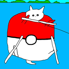 poke ball cat