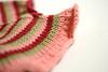 Never Not Knitting pattern: Chloe - ruffle close up