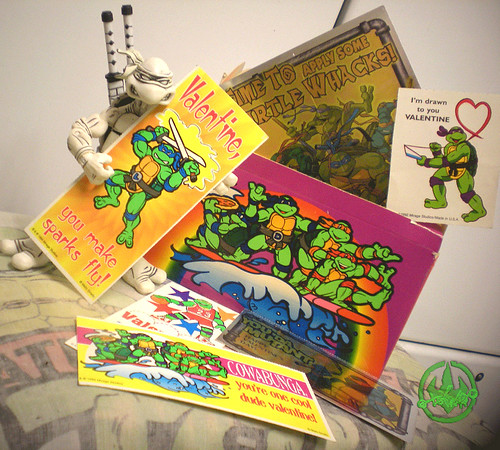 "MELLO SMELLO :: ""TEENAGE MUTANT NINJA TURTLES"" Valentine Kit .. box iii (( 1994 ))"