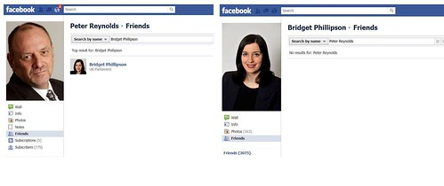 Bridget Phillipson removes Peter Reynolds from her Facebook friends