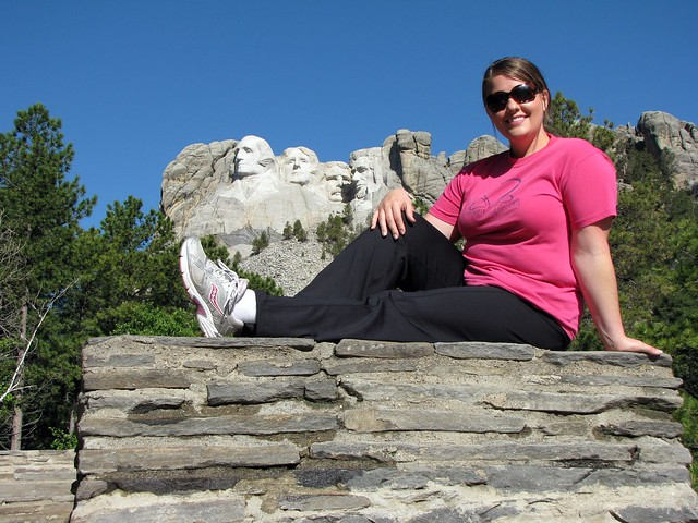 Karen at Mount Rushmore