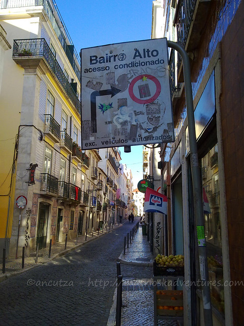 foto quartiere Bairro Alto Lisbona
