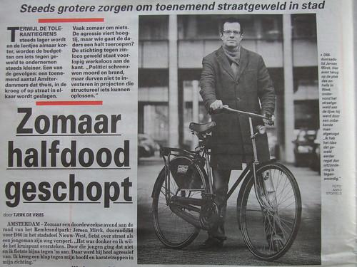 Jeroen Mirck in De Telegraaf