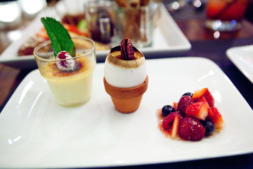 Crème Brûlée Egglings with Tahitian vanilla and mixed honeyed berries
