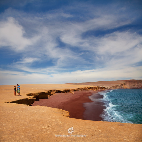 sea seascape beach peru water landscape couple desert redsand idyllic playaroja paracasnationalpark paracasnationalreserve thesouthcoast absolutegoldenmasterpiece icadepartment