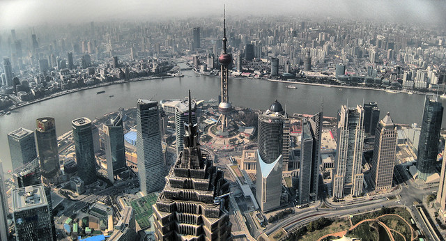 Shanghai View from SWFC by CC user joanet on Flickr