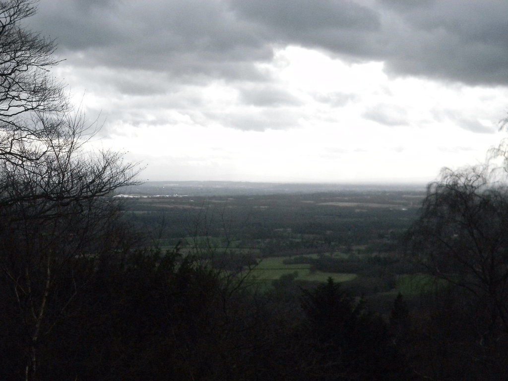 View south from Leith Hill Holmwood to Gomshall