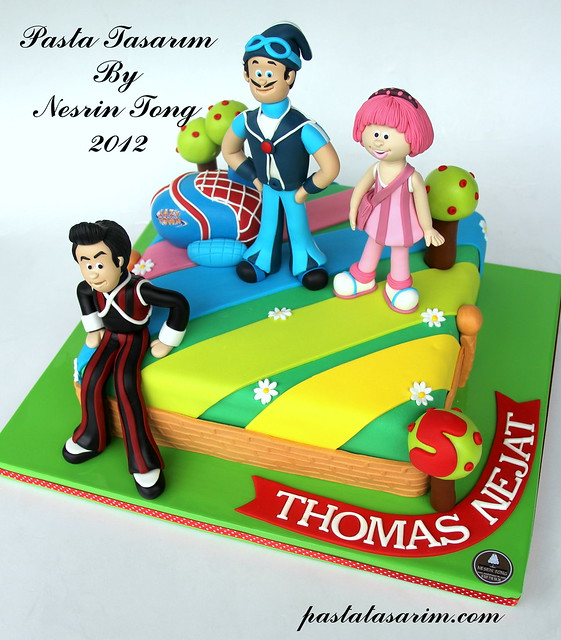 LAZY TOWN CAKE - THOMAS NEJAT BIRTHDAY