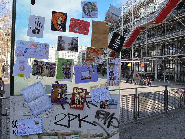 my REAL wall at the Centre Pompidou in Paris