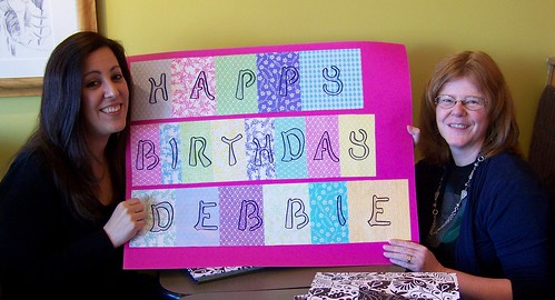 Deb's 50th birthday scrapbook