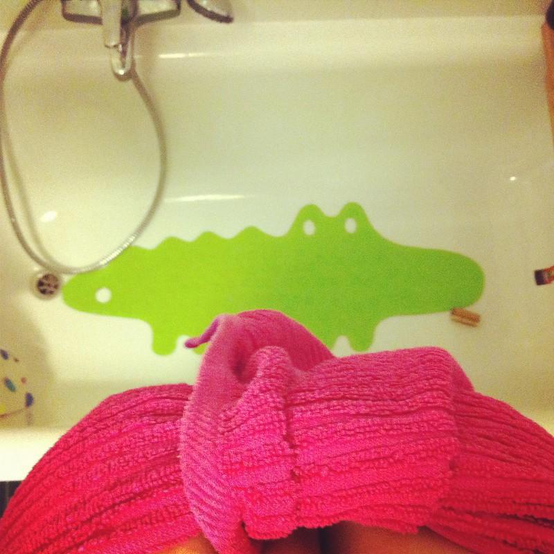 dusche am morgen