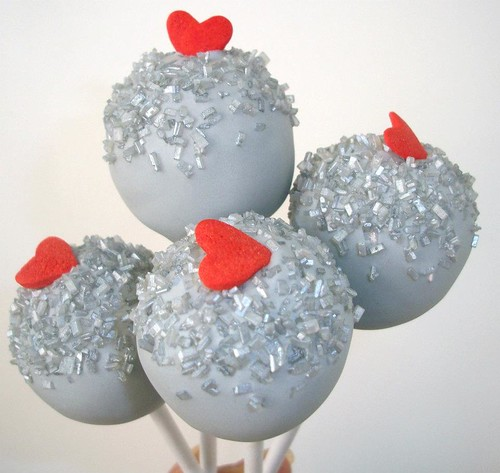 Cake Pops Silver Love by sandra vidrio