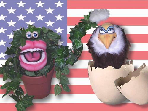 Bald Eagle w plant sm