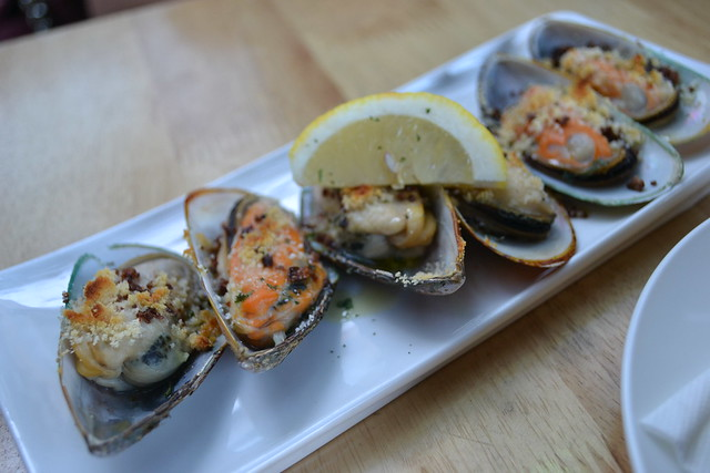Oven-baked Mussels with Garlic and Cheese, Loco Spanish Tapas Bar