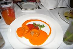 Paprika stuffed with tuna at La Guarida, Havana