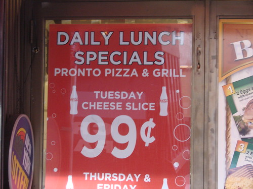 99 cent slice special sign