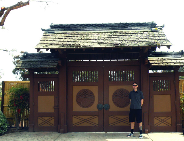 Mike Infront of the Japanese Garden Ceremonial Gates