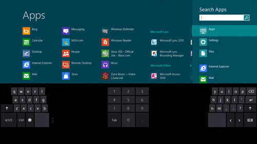 Keyboard Virtual - Windows 8 Consumer Preview