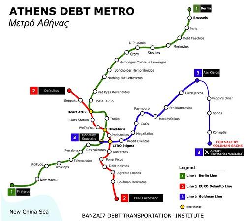 ATHENS DEBT METRO