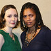 Marianna Bassham (Patty Ann) and Nikkole Salter (Lucy Taylor). The Huntington's production of Kirsten Greenidge's compelling Boston story THE LUCK OF THE IRISH, directed by Melia Bensussen, plays March 30 — April 9 at the Calderwood Pavilion at the BCA / South End.