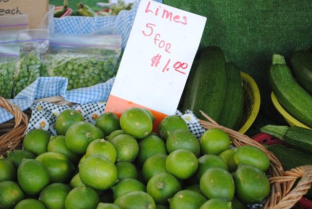 Carlsbad, CA farmers market organic limes
