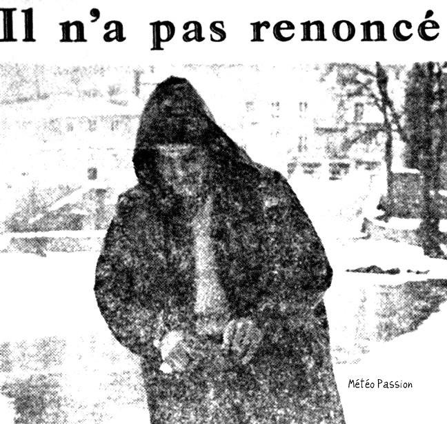 ouverture de la pêche par un froid glacial le 6 mars 1971 météopassion