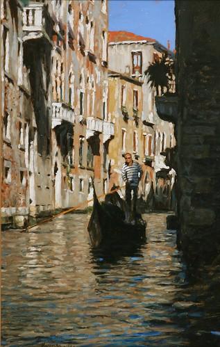 "Venice oil sketch 14¾"" x 9½"""