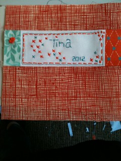 Signature block for Alisha - To Bee Orange & Aqua