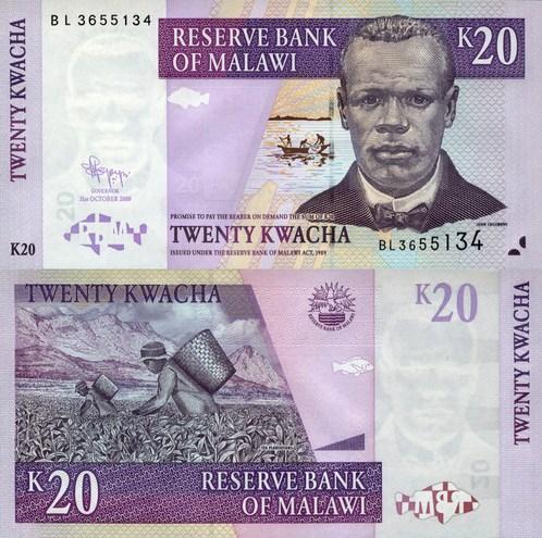 20 Kwacha Malawi 2009
