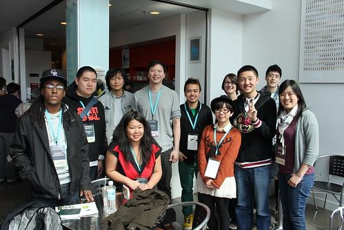 Delegates with Patrick Wang