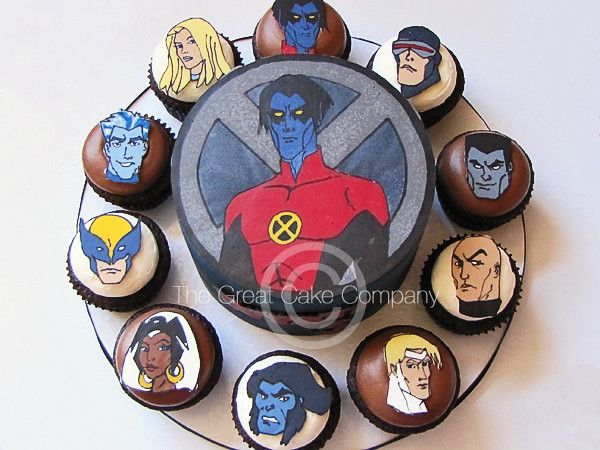 X Men Cake An X Men Themed Cake And Coordinating