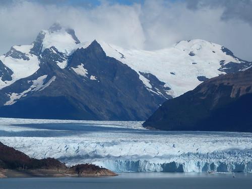 Imagen del Perito Moreno desde el Mirador de los suspiros