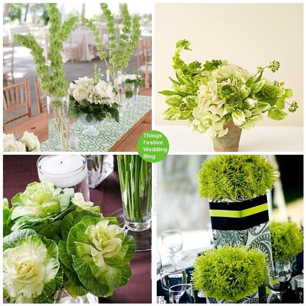Irish Wedding Centerpieces A Little Green Or A Lot