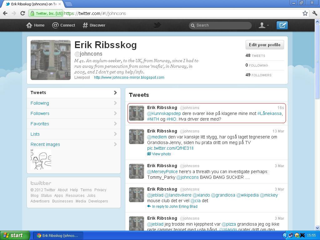 klage på kunnskapsdepartementet på twitter