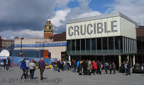 The Crucible, Sheffield during world snooker 2012.