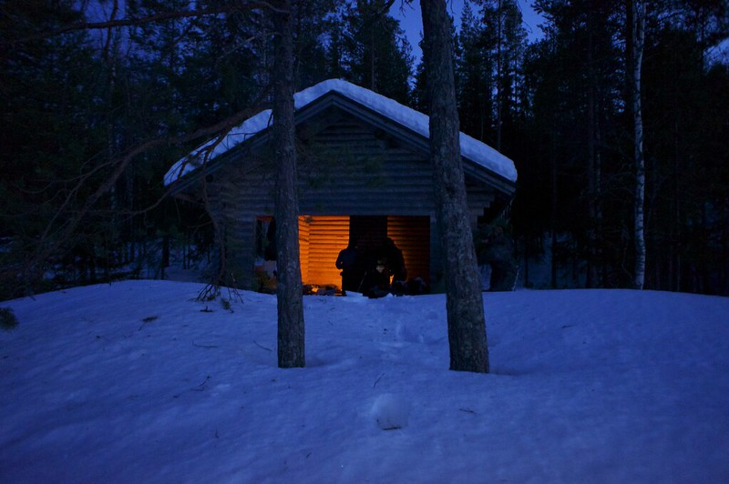 Abusing the cooking shelter as a sleeping shelter