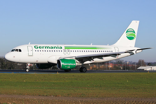 D-ASTB Germania A319 at Southend EGMC