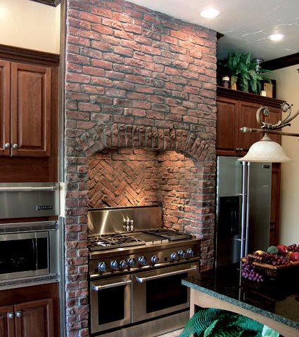 Kitchen Application Clinker Brick Antique Red Thin Brick