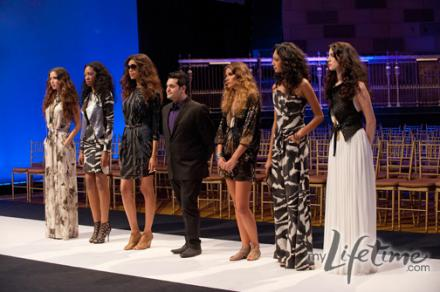 Michael with his models on the runway