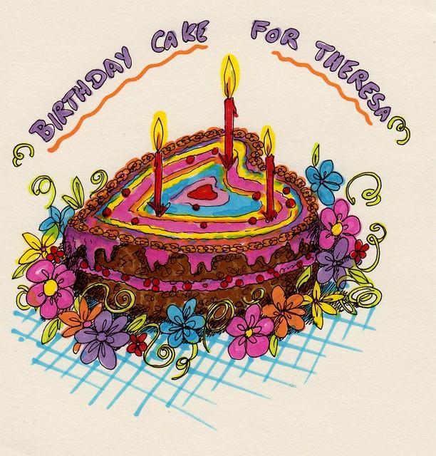 Birthday Cake Illustration Artsy