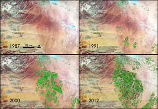 NASA Sees Fields of Green Spring up in Saudi Arabia. Credit: NASA/GSFC/Landsat