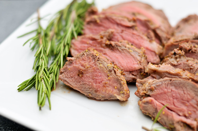 Mustard Crusted Leg of Lamb