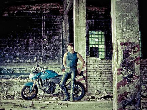 無料写真素材, 人物, 男性, 乗り物・交通, オートバイ・バイク, 乗り物・交通  人物