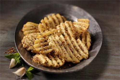 Bruschetta Waffle Fries