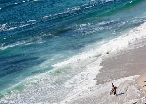 Surfer in La Jolla, San Diego