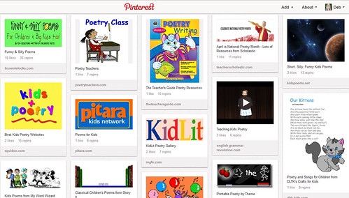 Pinterest - Kids' Poetry Activities