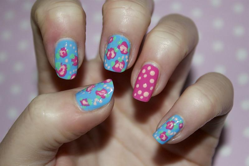 Cath Kidston nail art