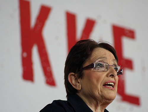 Aleka Papariga, leader of KKE - The Cummunist Party of Greece
