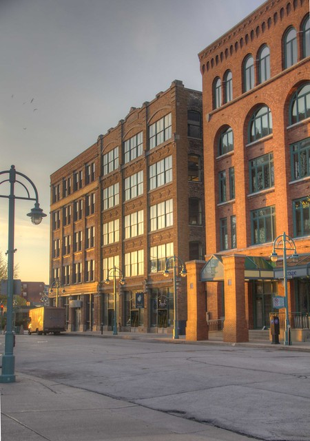 Early morning Chicago Street Milwaukee Wisconsin Historic Third Ward