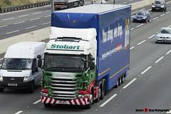 Scania R440 6x2 Tractor with Tesco 3 Axle Box Trailer - PK11 NLV - Isabella Nikki - Eddie Stobart - M1 J10 Luton - Steven Gray - IMG_6774